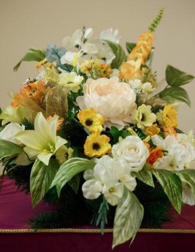 wiązanka sztuczne kwiaty